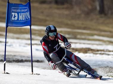 Kamenec hostil finále Světového poháru v jízdě na skibobech. Na snímku je vítězka Alena Housová (Sokol Jablonec n. J.). Autor: DENÍK/Martin Bergman